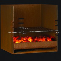 Rais Cube Wood Outdoor Fireplace/Grill