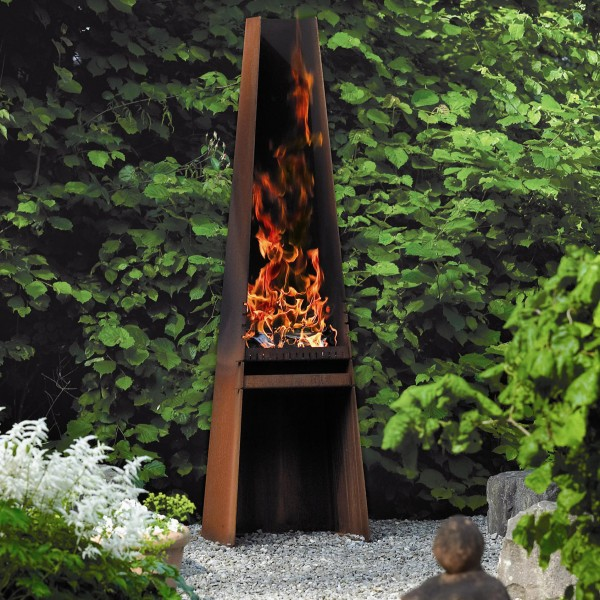 Rais Gizeh Outdoor Wood Fireplace / Wood Grill