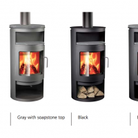 "Rais Rondo ""Classic"" Wood Stove Color and Top Options"