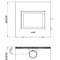 Rais X-Basic Wood Stove Dimensions