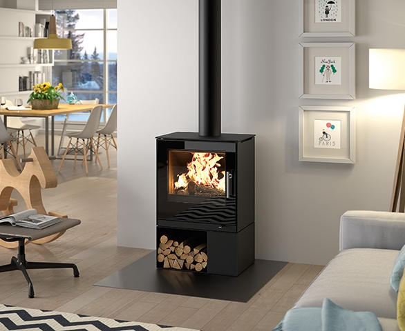... Rais Q-Tee II with Base - Rais Q-Tee 2 Wood Stove For Sale